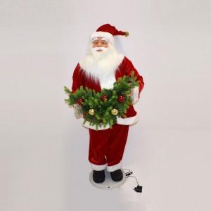 Babbo Natale con Ghirlanda...