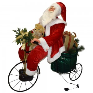 Babbo Natale in bicicletta...