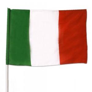 Bandiera Italia Con Asta Da...