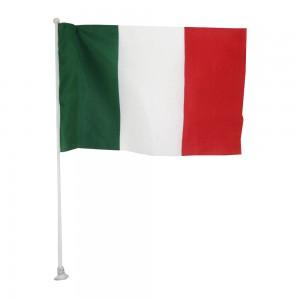 Bandiera Italia Con Asta...