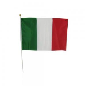Bandiera Italia con Asta,...