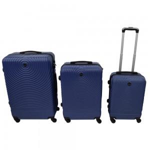 Tris di valigie in ABS blu...