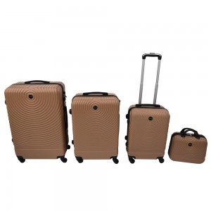 Set di valigie in ABS oro -...