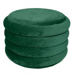 Pouf in velluto verde H 39 cm