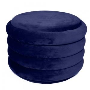 Pouf in velluto blu H 39 cm