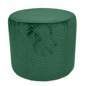 Pouf in velluto verde H 34 cm