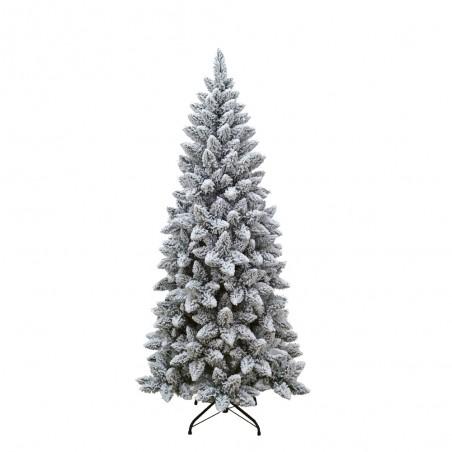 Albero Di Natale Slim 210.Albero Di Natale Innevato Alaska Slim Da 120cm 210punte